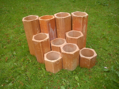 Hexagonal Clay Planters
