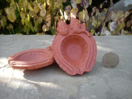 Diya No.4 Shiva and Ganesh