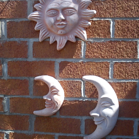 Sun and Moon Wall Plaques