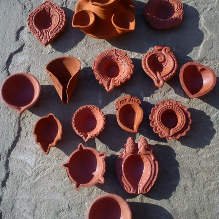 Clay Diyas / Divas / Oil Lamps & Candle pots